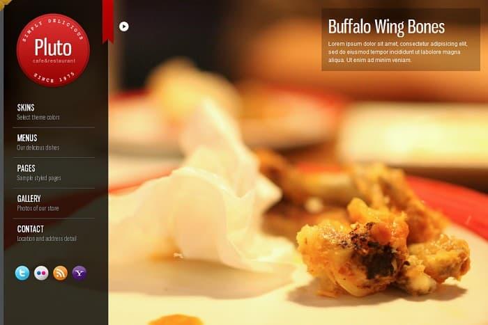 Pluto Fullscreen Cafe and Restaurant WordPress theme