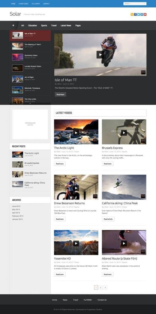 solar-video-wordpress-theme
