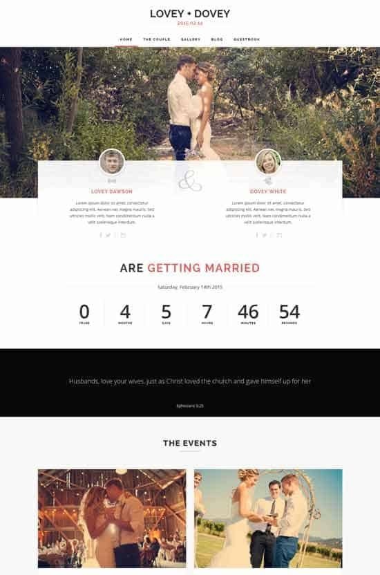 Lovey-Dovey-Responsive-WordPress-Wedding-Theme