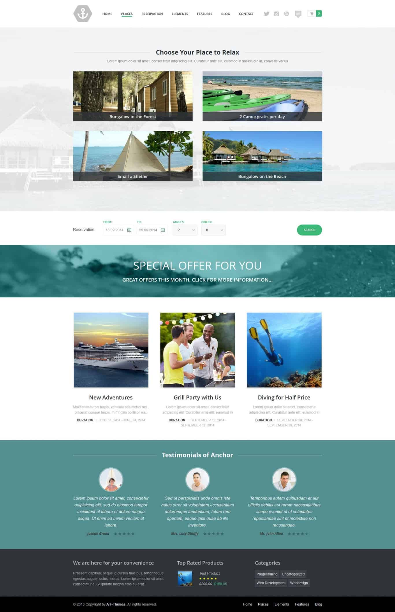 anchor-wp-theme-with-reservation-system-