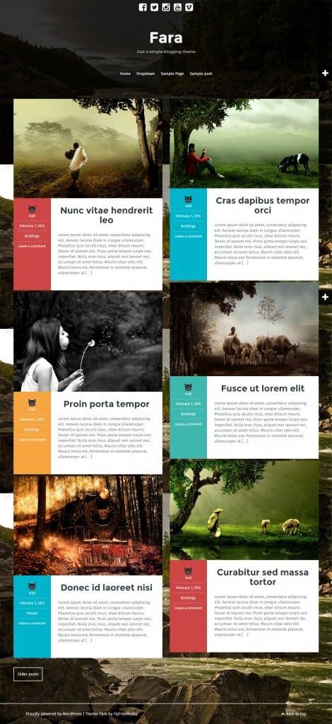 Fara-Just-a-simple-blogging-theme