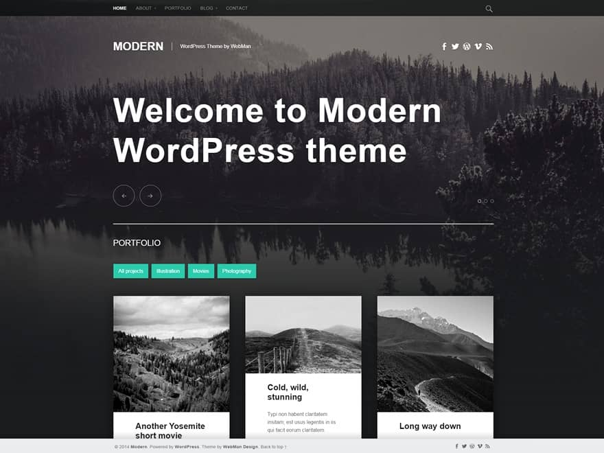 modern free wordpress theme