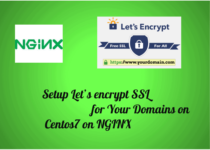 Setup Let's encrypt SSL for Your Domains on Centos7 on NGINX