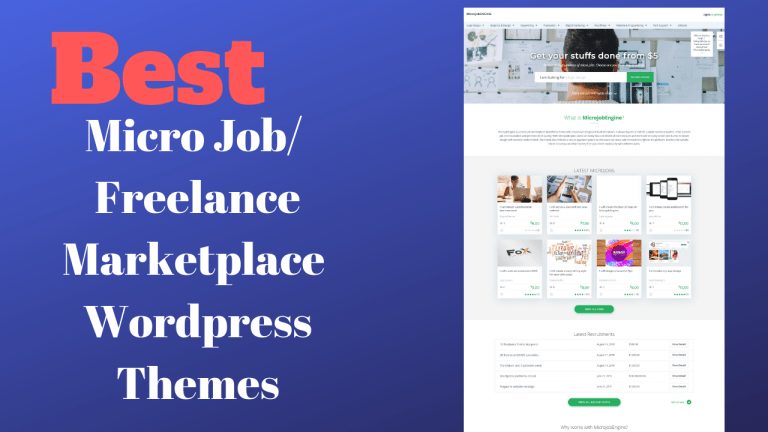 Best Micro Job/ Freelance Marketplace WordPress Themes