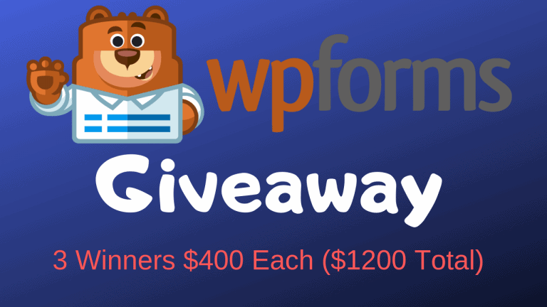 WPForms Pro Giveaway – 1 Year License For 3 Winners (Worth $1200)